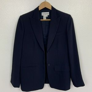 Bloomingdale's Blazer Navy Blue Sz: 8